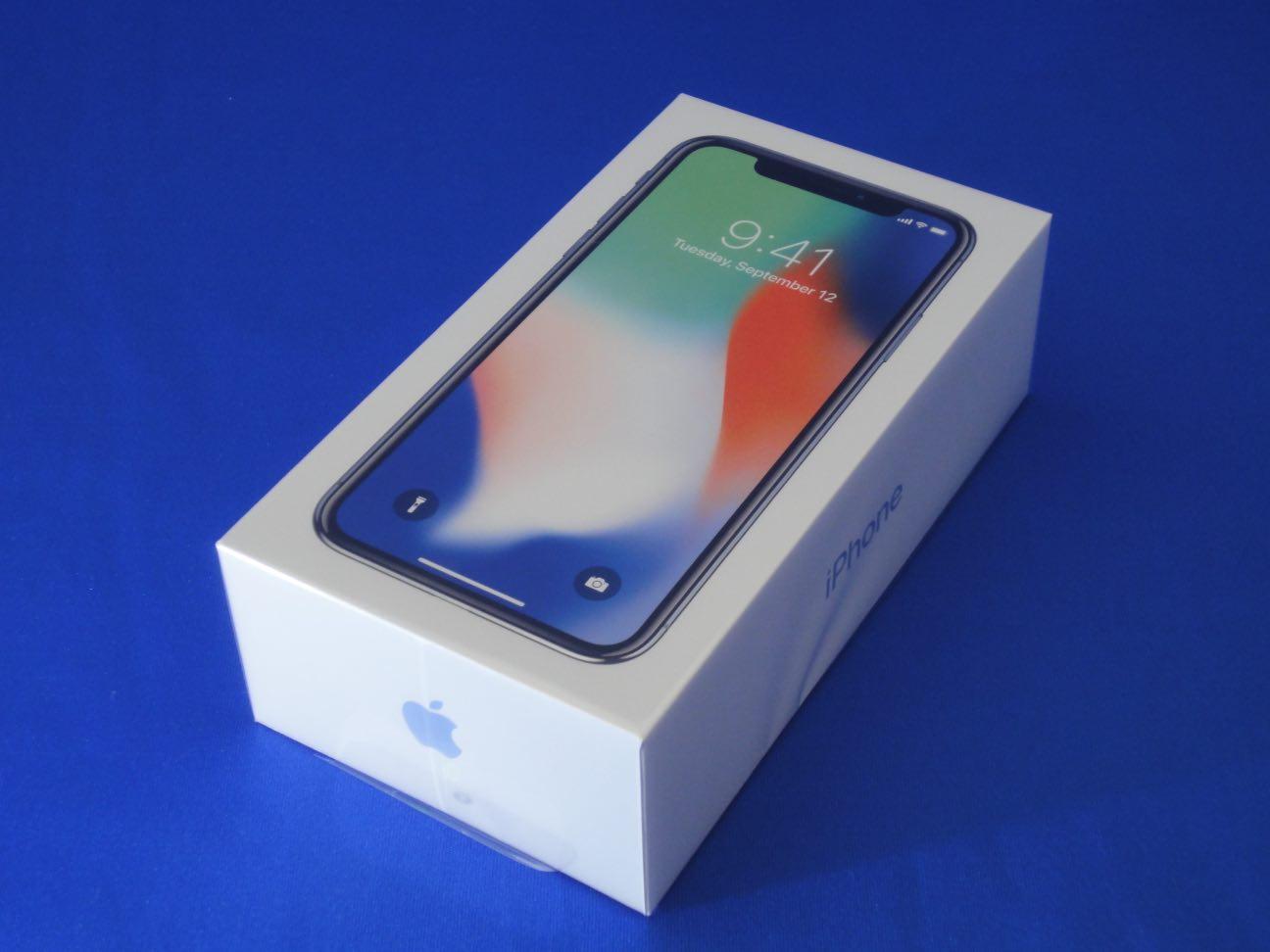 SIMフリー版iPhoneX256GB開封の儀!まずは外観のレビューから