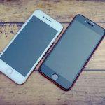 iPhone8とiPhoneSEの画面比較