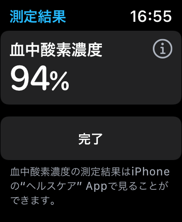 Apple Watch series6血中酸素濃度