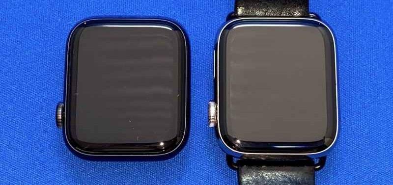 AppleWatchNikeSeries6と5ケース比較